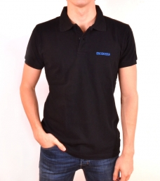 Polo Bandarra Slim Fit Negre / Blau Royal