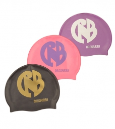 Pack 3 Swimming cap Black-Pink-Violet