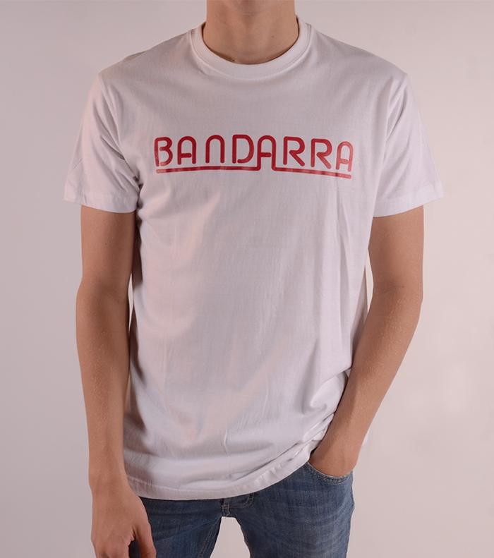 Camiseta Bandarra Clásica Blanca / Rojo