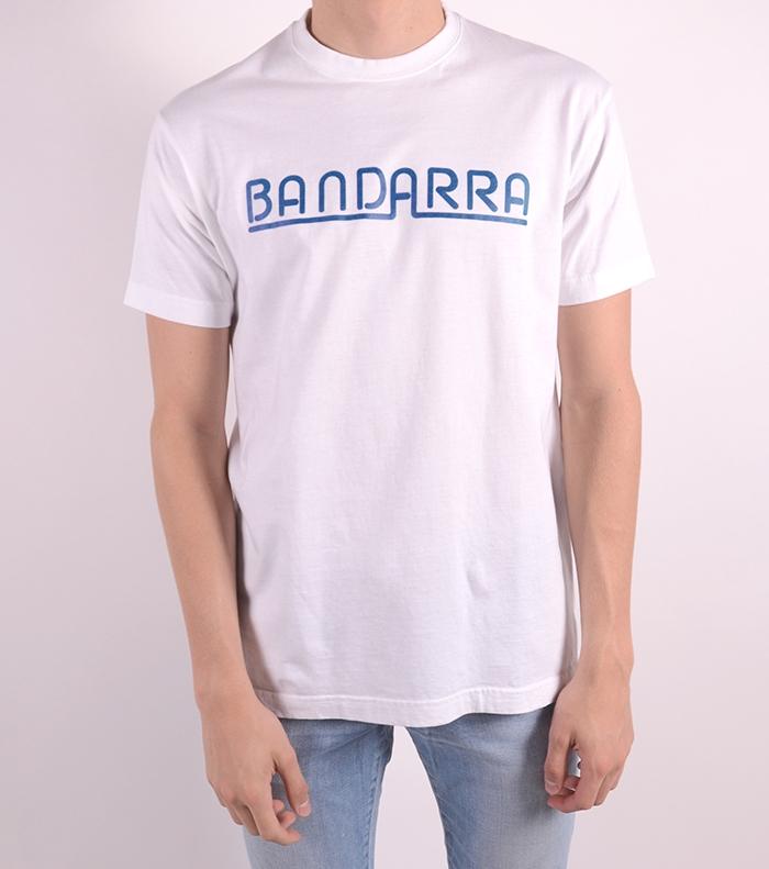 Samarreta Bandarra Clàssica Blanca / Blau