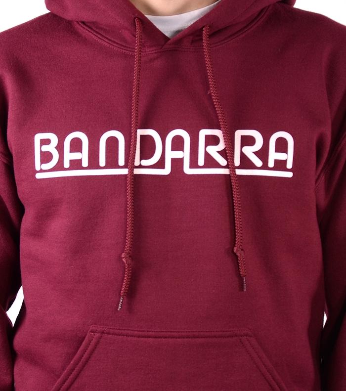 Hoody Sweatshirt Bandarra Maroon / White