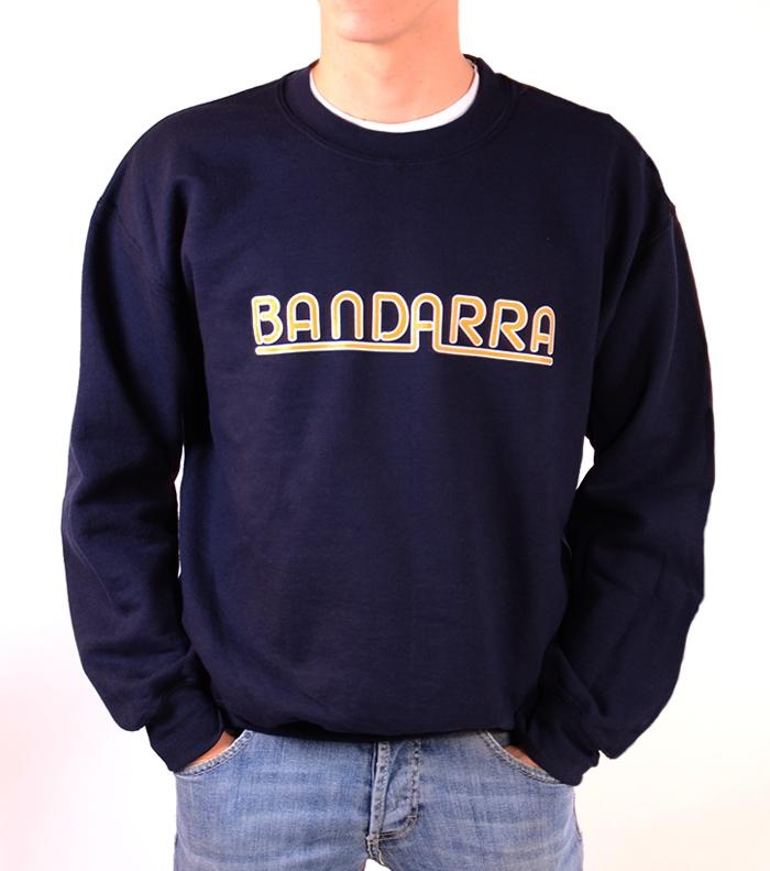 Without hood Sweatshirt Bandarra Blue / Orange-White