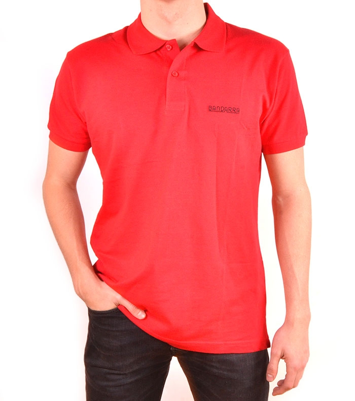 Polo Bandarra Slim FIt Rojo / Negro