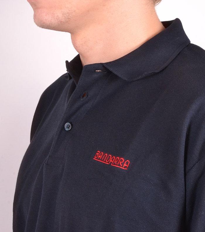 Long-sleeved Maroon Polo Bandarra / Blue