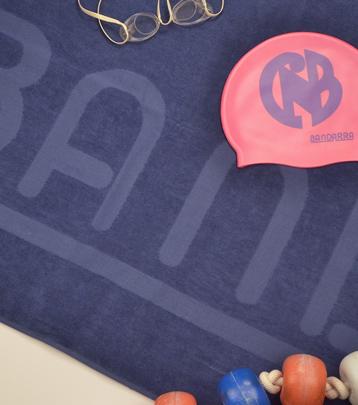 Pack Beach towel BANDARRA + Swimming cap