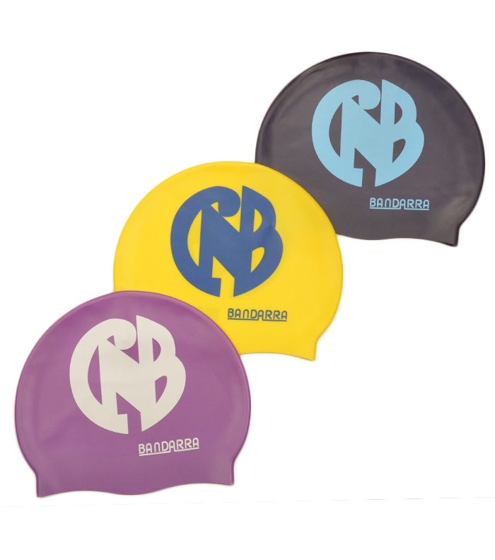 Pack 3 Swimming cap Violet-Yellow-Blue