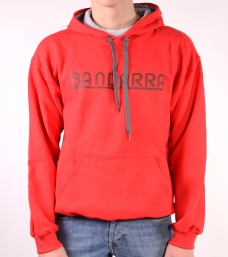 Hoody Sweatshirt Contrast Bandarra Red / Brown {descripcio_sensetags_prod}