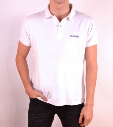 Polo Bandarra Slim FIt Blanco / Azul Royal {descripcio_sensetags_prod}